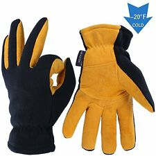 Thermal Gloves, OZERO -40°F Cold Proof Winter Glove - Genuine Deerskin Suede and