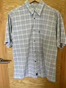 PAUL SMITH JEANS BLUE COTTON CHECKED SHORT SLEEVED SHIRT SIZE XL