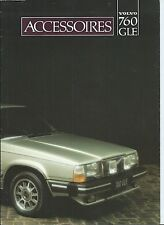 Volvo 760 GLE Accessories French Language Brochure Depliant 1982