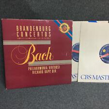 RICHARD KAPP BRANDENBURG CONCERTOS BACH 2ea 33 RPM LPS 1984  EXCELLENT VINYL