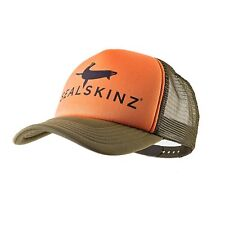 SEALSKINZ NEW Men's Trucker Cap Tangerine/DK Olive BNWT