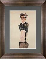 "Egon SCHIELE Lithograph SIGNED ""Self Portrait"" Dated #'ed Ltd Ed of 100 +FRAMING"