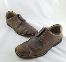 Johnston Murphy Shuler Brown Bicycle Split Toe Leather Shoes Mens 10.5M C2