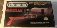 Nintendo NES Entertainment System Action Set Tested Working In Box W/ Styrofoam.