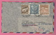 Enveloppe Laboratorio PETRIZZIO CAD SANTIAGO du 28-12-1948 sur 3 timbres