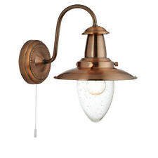 Searchlight 5331-1CU Fisherman Copper Wall Light With Oval Seeded Glass Shade
