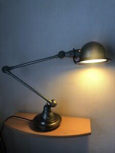 Lampe d'atelier Jieldé articulée 2 bras vintage industriel JLD