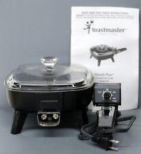 "Vintage Toastmaster Handi Pan Mini Electric 7"" Skillet Non Stick W/ Glass Lid"