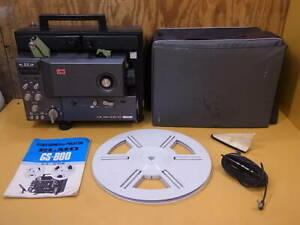 Elmo Mod GS-800 Stereo Sound Super 8 Projector Used W/Instructions Black