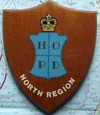 Obsolete Home Office Police Department Northern Region Oak Crest Plaque Shield.