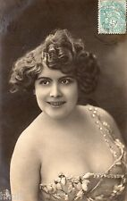 BE421 Carte Photo vintage card RPPC Femme woman mode fashion Marcelle Yrven