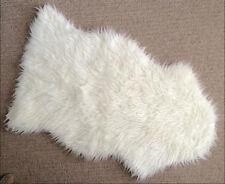 "IKEA faux sheepskin rug 40x24"" white armchair drape soft cozy TEJN home NWOT"