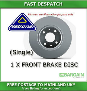 1 X FRONT BRAKE DISC FOR VOLVO 740 2.0 08/1989 - 07/1991 3839