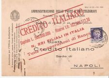 Italy: Receipt return for Money in Post Office w/Stamp. IT34