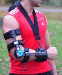 Elbow Arm Sling ROM Hinged Brace Sprains Strains Post Op Support Immobilisation