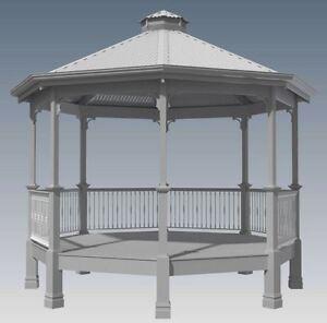 CLASSIC ROTUNDA GAZEBO - UNIQUE DESIGN V1 - Full Building Plans in 3D and 2D