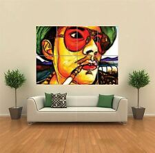 FRACTAL LIGHT JOHNNY DEPP HUNTER S THOMPSON GIANT ART PRINT POSTER WALL G1168