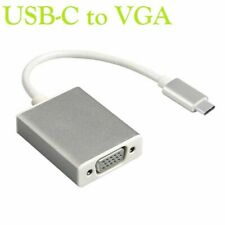 "USB-C USB 3.1 Male to VGA Female Converter Cable Adapt for 12""Macbook Chromebook"