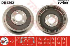 Skoda 2x Brake Drums (Pair Set) Rear TRW DB4262 1J0609617B Genuine Quality