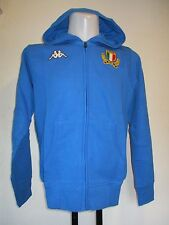 ITALY RUGBY BLUE FULL ZIP HOODY BY KAPPA ADULTS SIZE LARGE BRAND NEW WITH TAGS