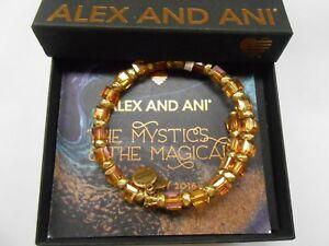 Alex and Ani Golden Days Wish Wrap Bracelet Rafaelian Gold NWTBC