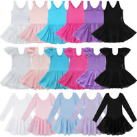 Girl Gymnastics Ballerina Ballet Kid Leotard Tutu Skirt Dance Costume Dress 2-14