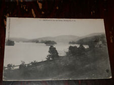 STE-AGATHE P.Q. CANADA - RARE 1906 POSTCARD - BAIE NORD du LAC des SABLES