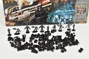 Risk 2210 Board Game Parts Black armies commander naval land space diplomat