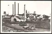 Cuba Postcard Habana Sugar Mill At Work To USA w 2 Stamps L@@K