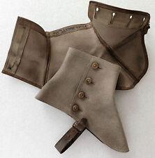 Saxone GREY spats wool felt gaiters shoe protectors vintage 1910s 1920s Gray