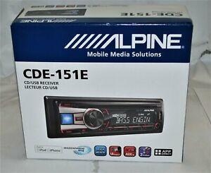 Alpine CDE151E Single DIN In-Dash CD/AM/FM/Digital Media Car Stereo Receiver NEW