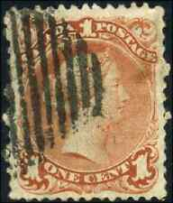 Canada #22 used VF 1868 Queen Victoria 1c brown red Large Queen CV$200.00