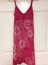 ladies dress size Small Aeropostale pink white empire waist  75