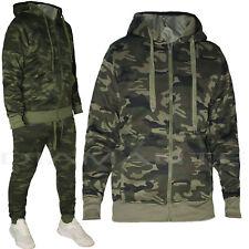 Tuta Uomo Mimetica Invernale Felpa Con Cappuccio + Pantalone Tuta Militare Sport