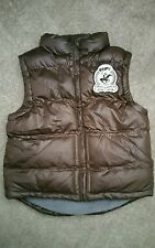 KIDS DARK BROWN  PUFFA, GILET/  JACKET  VEST' SIZE