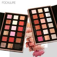 FOCALLURE 18 Colors Pearlized Color Eyeshadow Powder Eye Shadow Palette Set LJ