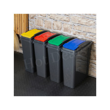 More details for 25l recycle bin high grade plastic dustbin with flip lid waste rubbish bin home