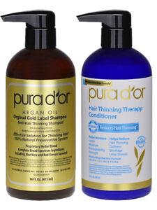 Pura D'or / Dor Anti Hair Loss Shampoo & Conditioner - Hair Growth Treatment