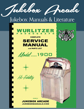 NEW! Wurlitzer Model 1900 Service Manual & Parts Lists from Jukebox Arcade