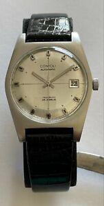 Vintage Yema Contoli Wristmaster Watch Automatic 25 Jewels Incabloc Waterproof