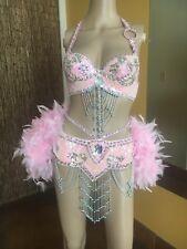 Pink Showgirl Burlesque Costume Halloween