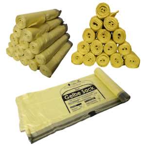 Gelber Sack / Gelbe Säcke Müllsäcke Müllbeutel mit Zugband 10 bis 200 Rollen
