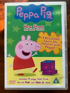 Peppa Pig DVD New Shoes + Other Stories British TV Children's Cartoon Favourite