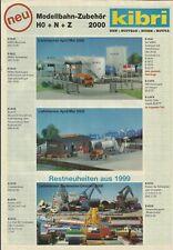 Katalog Kibri Neuheiten 2000 Modellbausätze Gebäude + Zubehör in HO 1:87