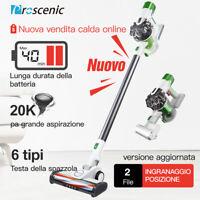 Proscenic P9 Aspirapolvere senza fili Auto silenzioso Faro LED Ricarica a muro