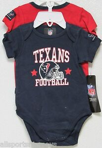 NFL Houston Texans Onesie Set of 2 Football First; Nap Later! 18M by Gerber