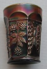 Butterfly + Berry Tumbler... pretty green-ex...vintage carnival glass..old 790