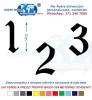 Numeri Adesivi auto/moto racing stickers numero adesivo OldEnglishTe