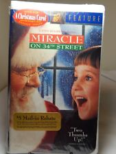 VHS Tape Miracle on 34th Street Rated G
