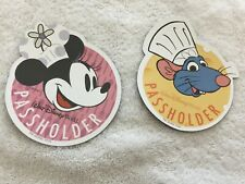 2019 - 2 Epcot Food & Wind Magnet Stickers: Chef Remy & Minnie Mouse - New